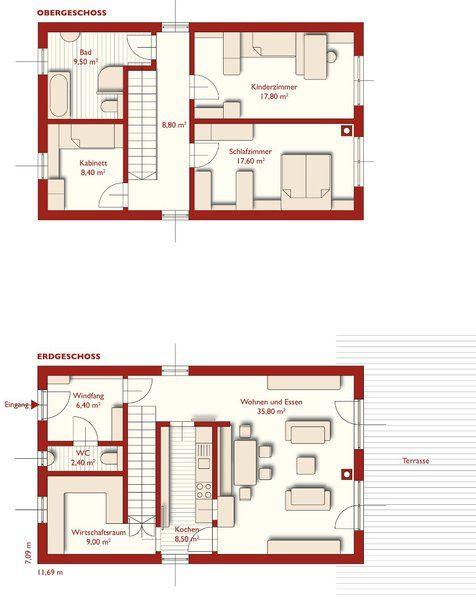 grundriss 94 primo unsere h user im berblick finden sie den haustyp der zu ihnen p. Black Bedroom Furniture Sets. Home Design Ideas
