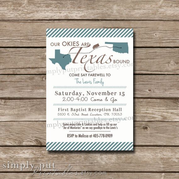 Going Away Party Invitation Farewell Party By Simplyputprintables