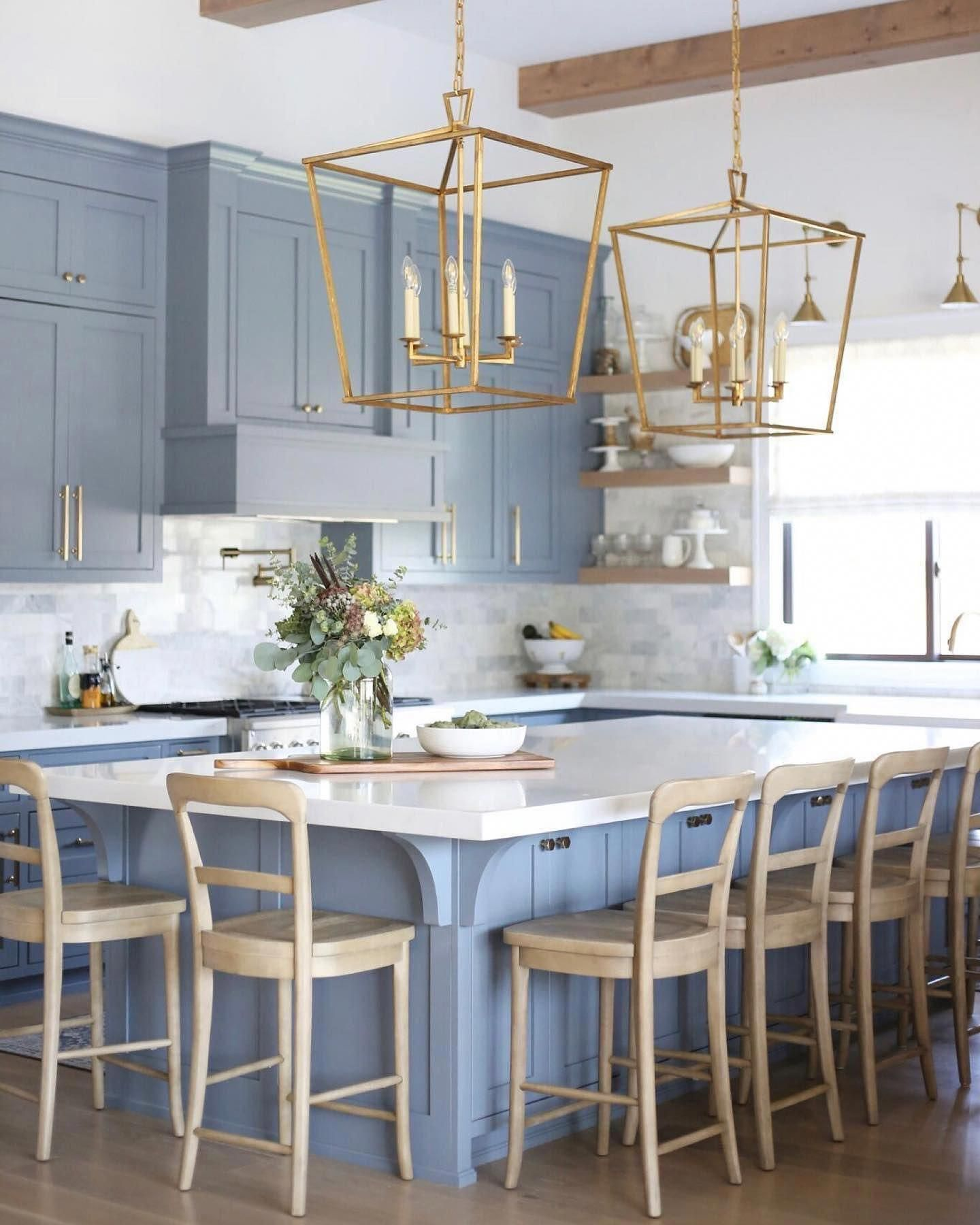 Charming Rustic Kitchen Ideas And Inspirations: Kitchen Island Lanterns In 2020