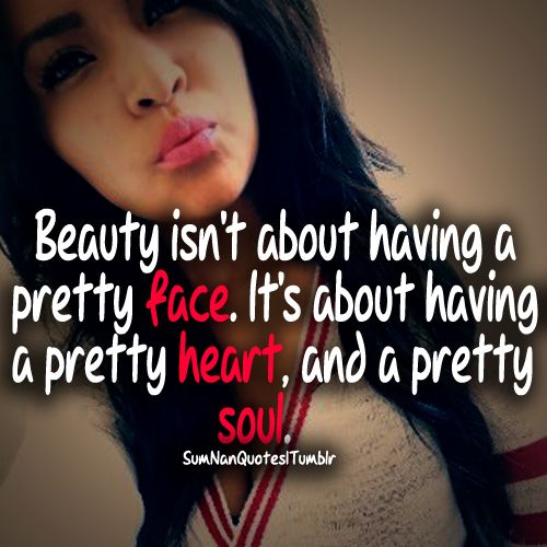 Beauty within is true beauty