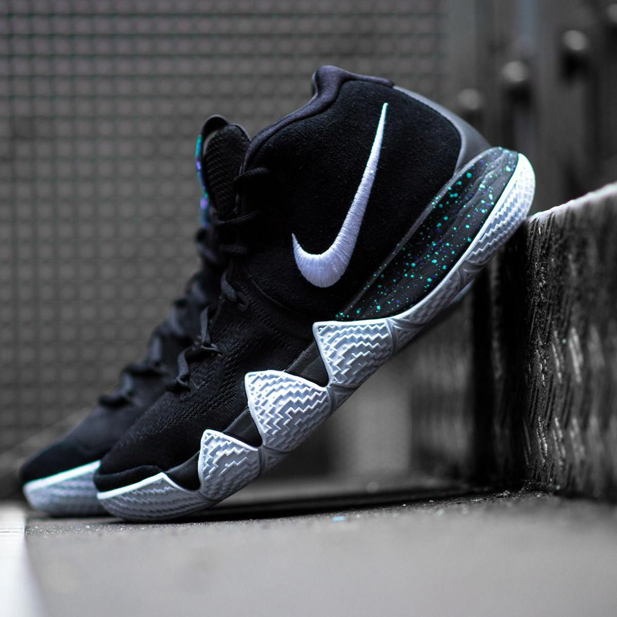 buy online e3bf0 3af18 Kyrie s got some new shoes! Get the Nike Kyrie 4  Black Ice  now on  KICKZ.com and in selected stores!  BasketballShoes