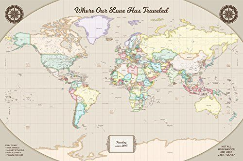 world map with pins a classic and inspirational piece for your home or office