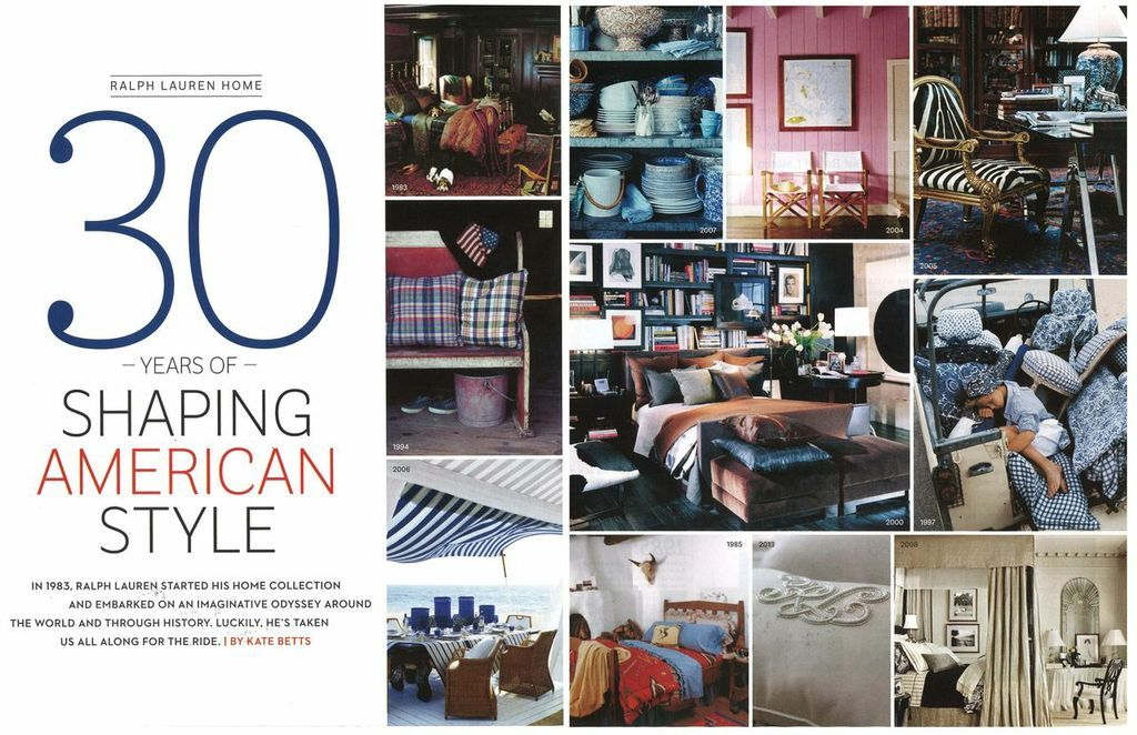 September's edition of House Beautiful celebrates Ralph Lauren and the Home collection's impact on the American design story