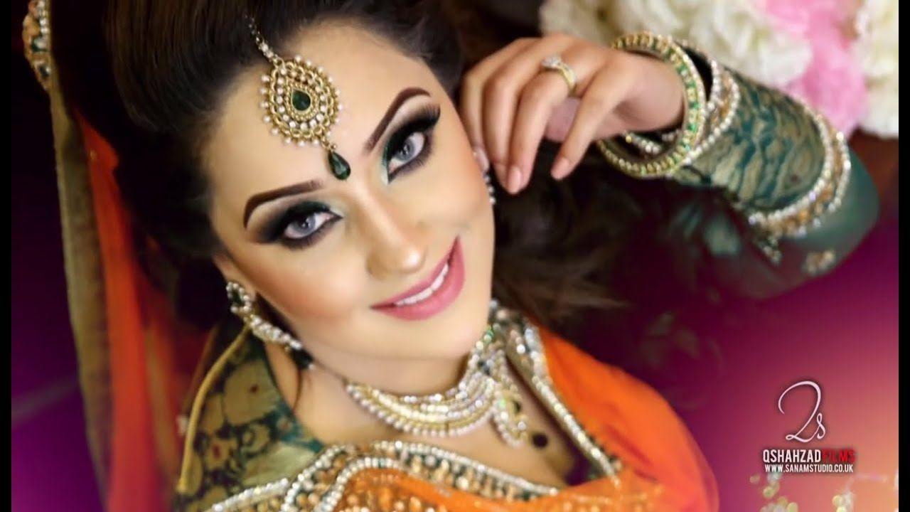 Mehndi Makeup In : Asian bridal makeup mehndi and hairstyling traditional