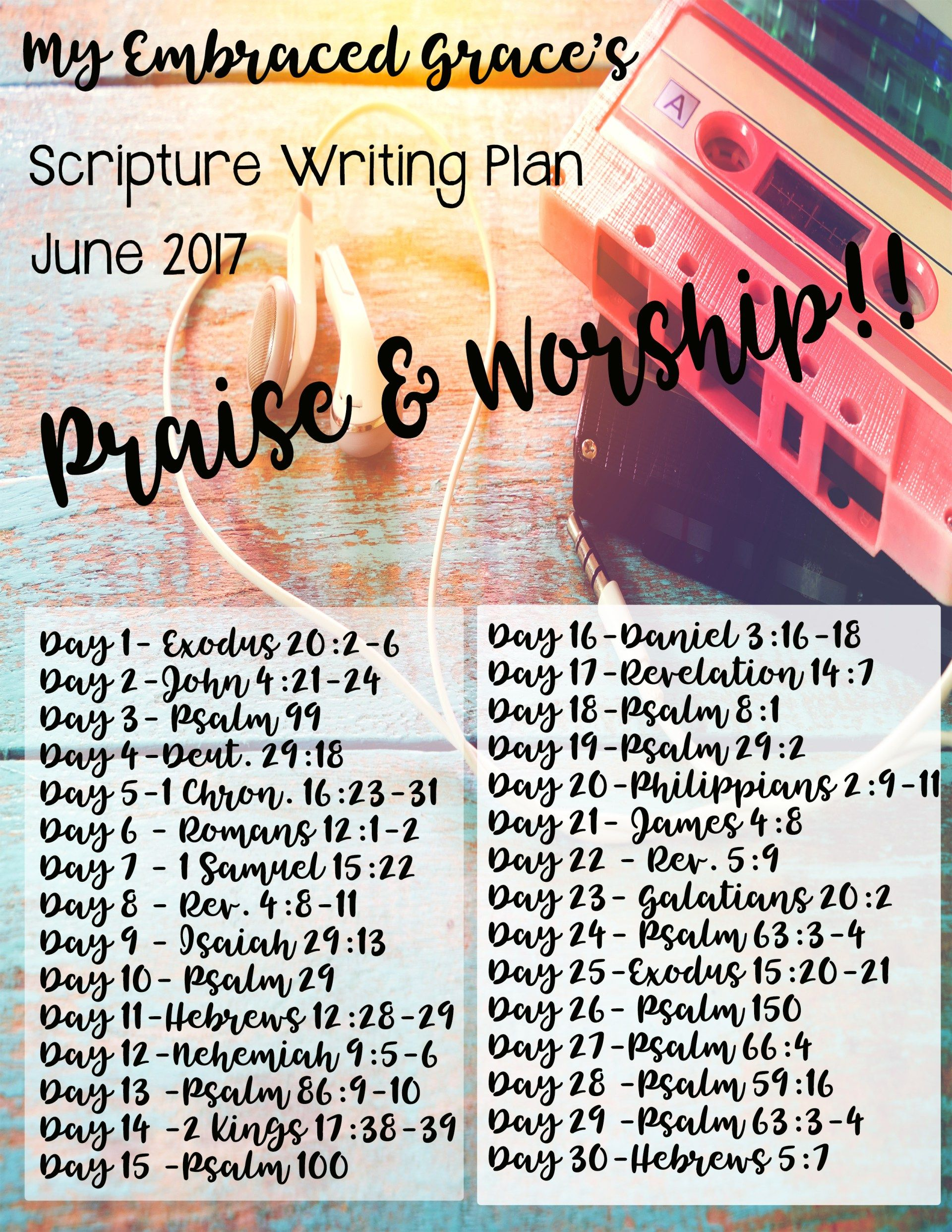 I Love Scripture Writing Here Is Your Monthly Scripture