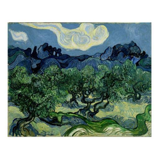 Vincent van Gogh's Olive Trees (1889) Poster