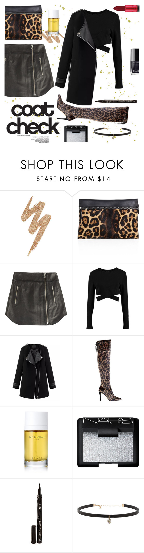 """Leopard Contest"" by ashleymmck ❤ liked on Polyvore featuring Urban Decay, Victoria Beckham, McQ by Alexander McQueen, Boohoo, Chicnova Fashion, GUESS, Roads, NARS Cosmetics, Smith & Cult and Carbon & Hyde"