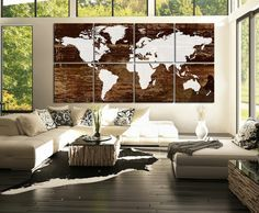 Weltkarte Wand - 73 Beispiele, dass Weltkarten Dynamik in die Innengestaltung bringen