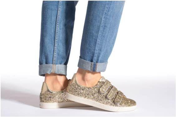 una gran variedad de modelos valor por dinero volumen grande Baskets Margot sneakers Liu Jo vue portées chaussures | Baskets dorées
