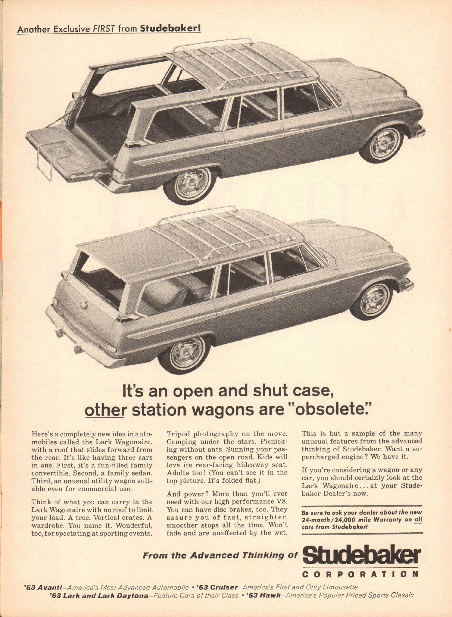 1963 studebaker lark wagonaire advertisement newsweek november 19 1962