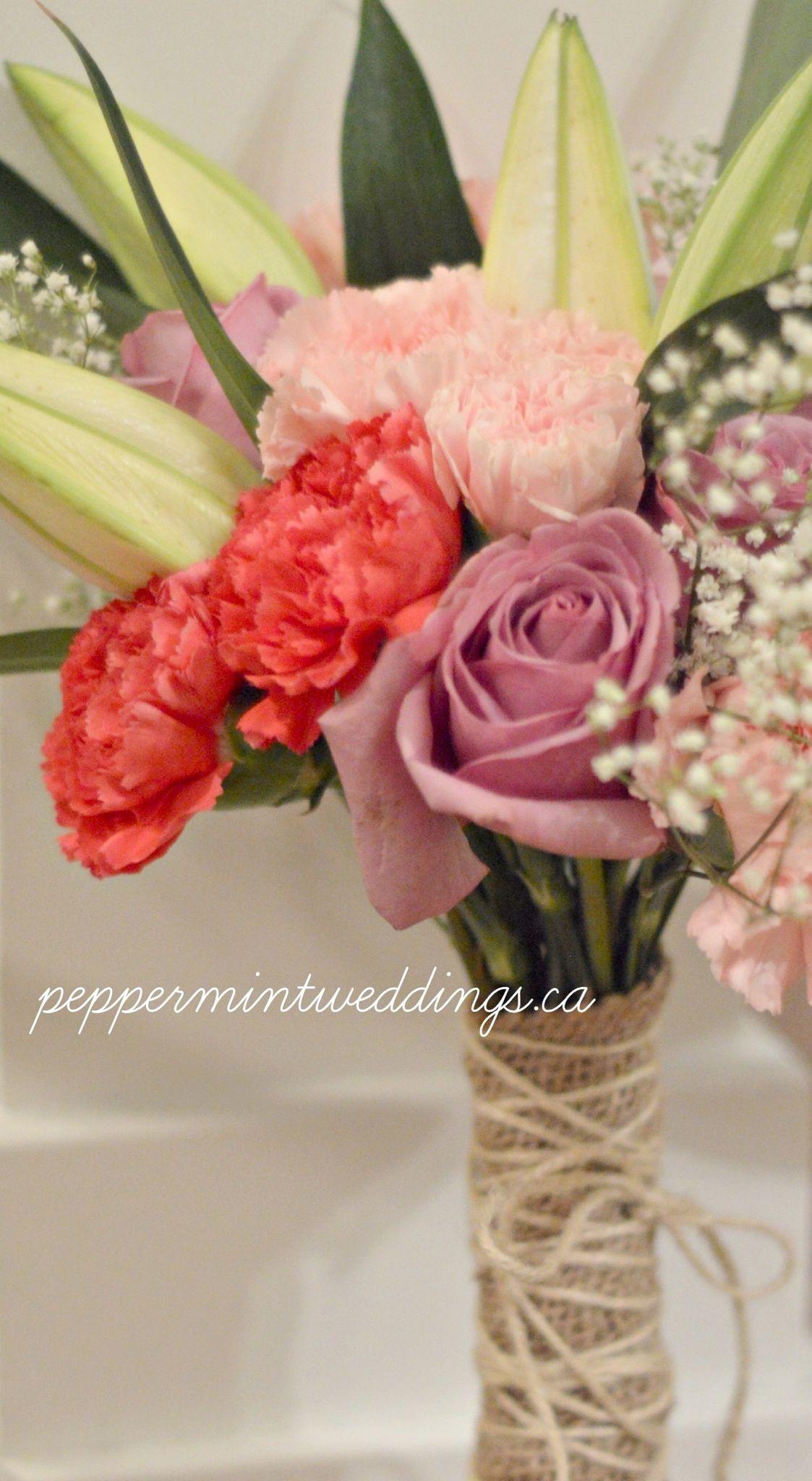 Rustic mix carnations lilies roses babys breath gypsophila rustic mix carnations lilies roses babys breath gypsophila wedding bouquet toronto weddings toronto wedding floral peppermint weddings izmirmasajfo