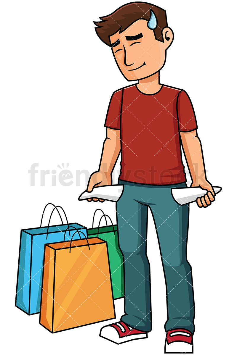 man with empty pockets after shopping vector cartoon clipart rh pinterest com Shopping Mall Clip Art Shopping Clip Art Black and White