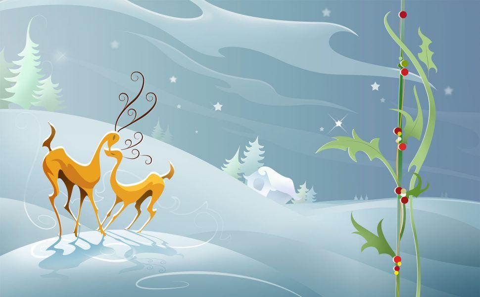 Christmas Reindeer HD Wallpaper