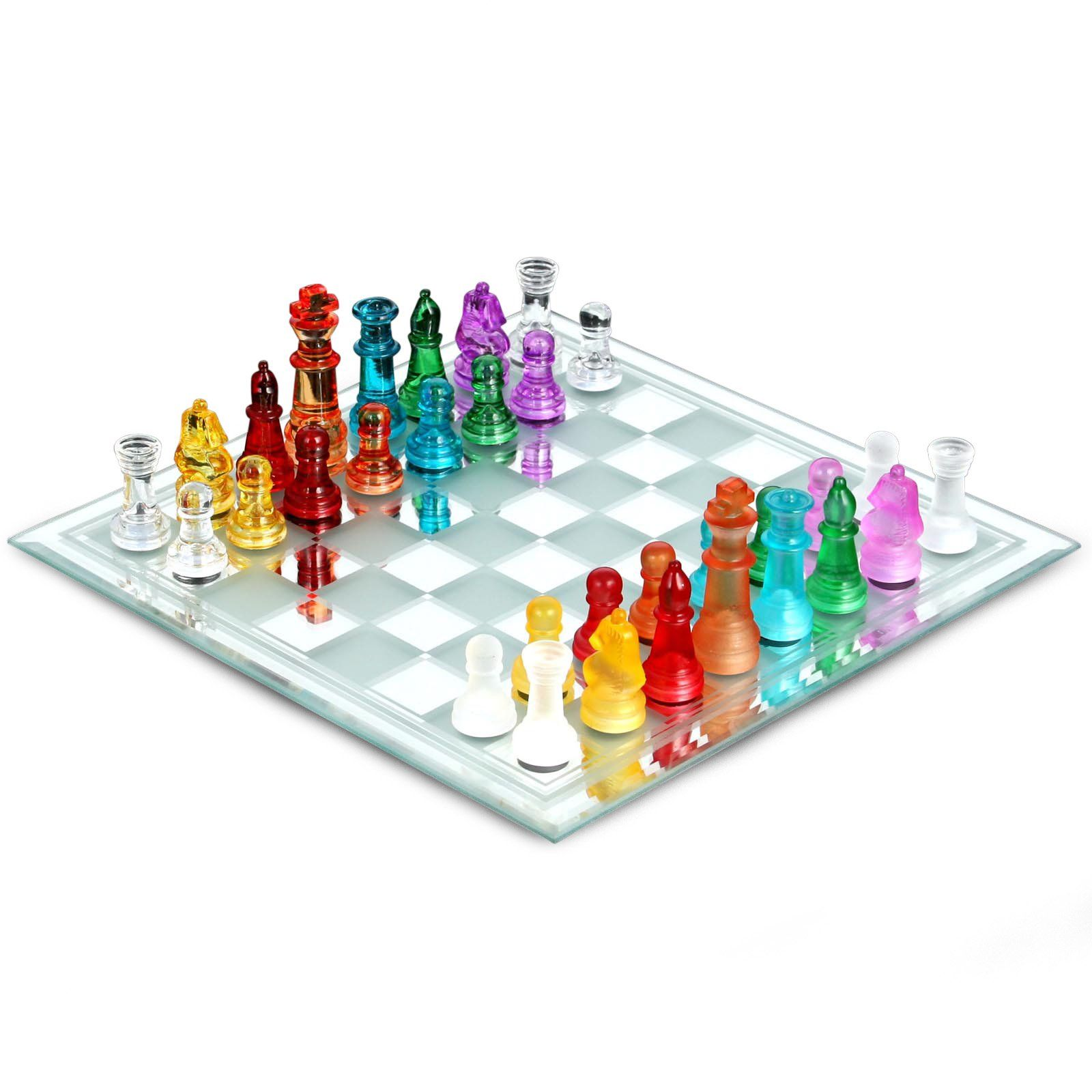 Have To Have It Multi Colored Glass Chess Set