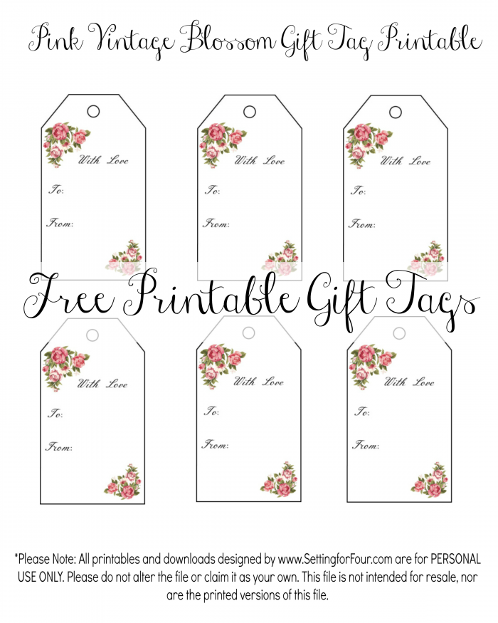 Vintage blossom free printable gift tags get your vintage blossom free printable gift tags these beautiful floral gift tags are perfect negle Image collections