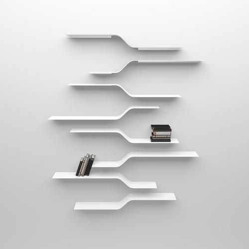 Network Shelves set 10- The proportions are studied to let the shelves be arranged and put together. They are available in many colours and finishes