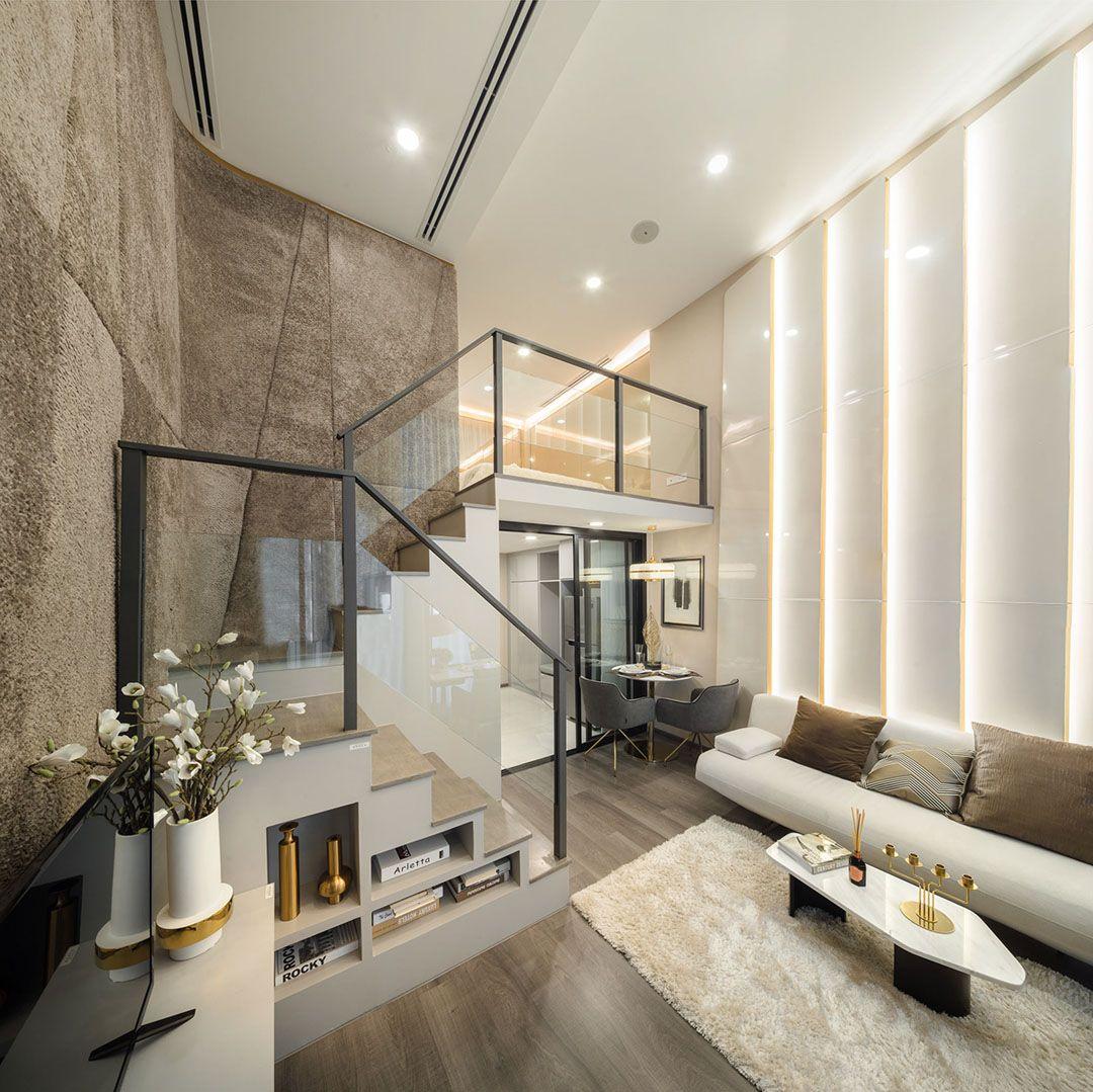 Luxurious Compact Modern Condo Apartment With Double Height Ceiling Idesignarch Interior Design Architecture Interior Decorating Emagazine In 2020 Modern House Design Minimalism Interior Minimal Interior Design