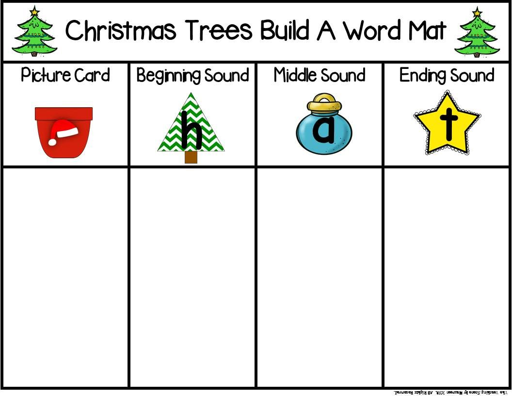 Christmas Trees Build A Cvc Word