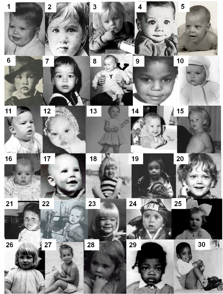 Celebrity Baby Photos I Quiz By Cornfarmer Celebrity Babies Celebrity Baby Pictures Baby Photos