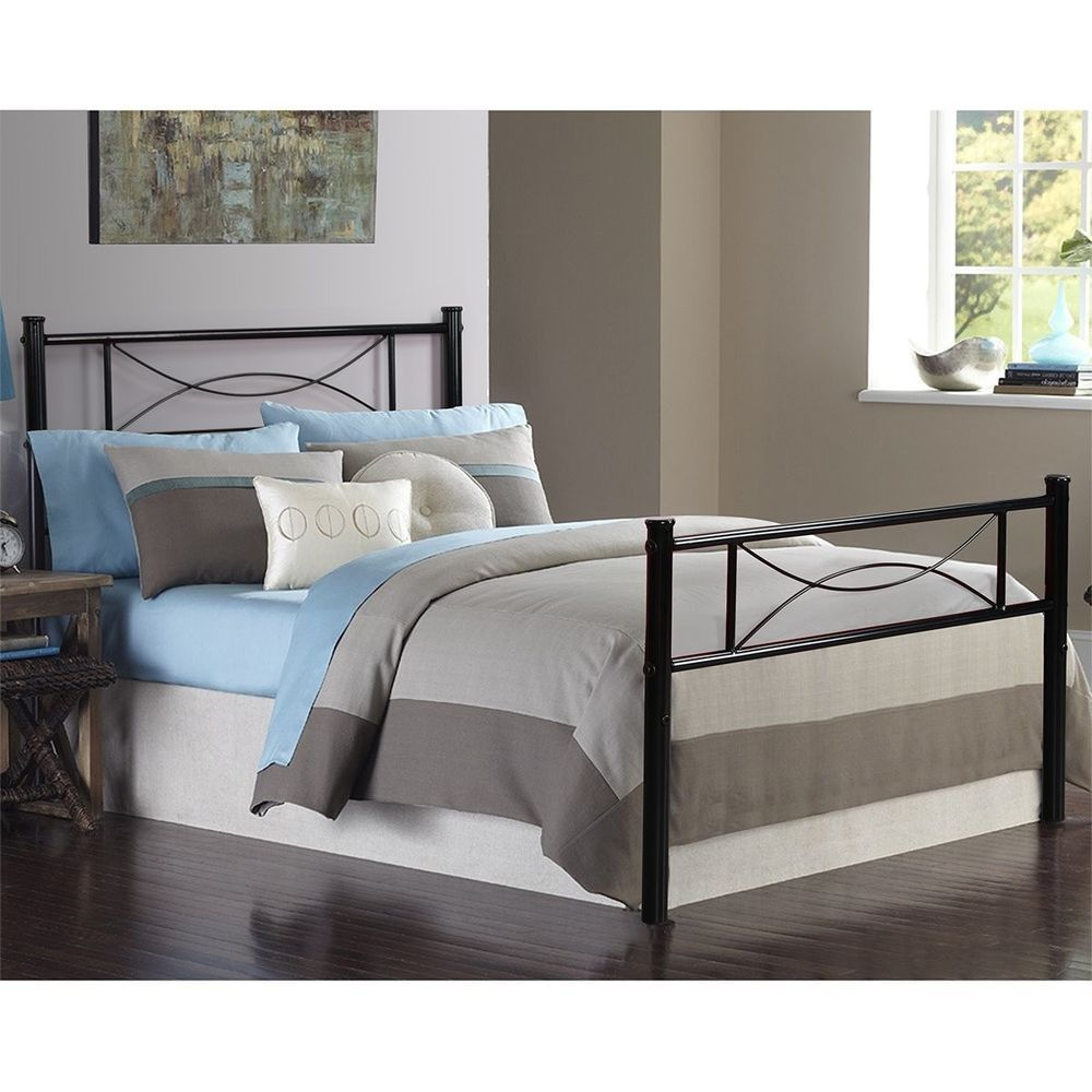 Twin Size Metal Bed Frame Box Spring Replacement Mattress