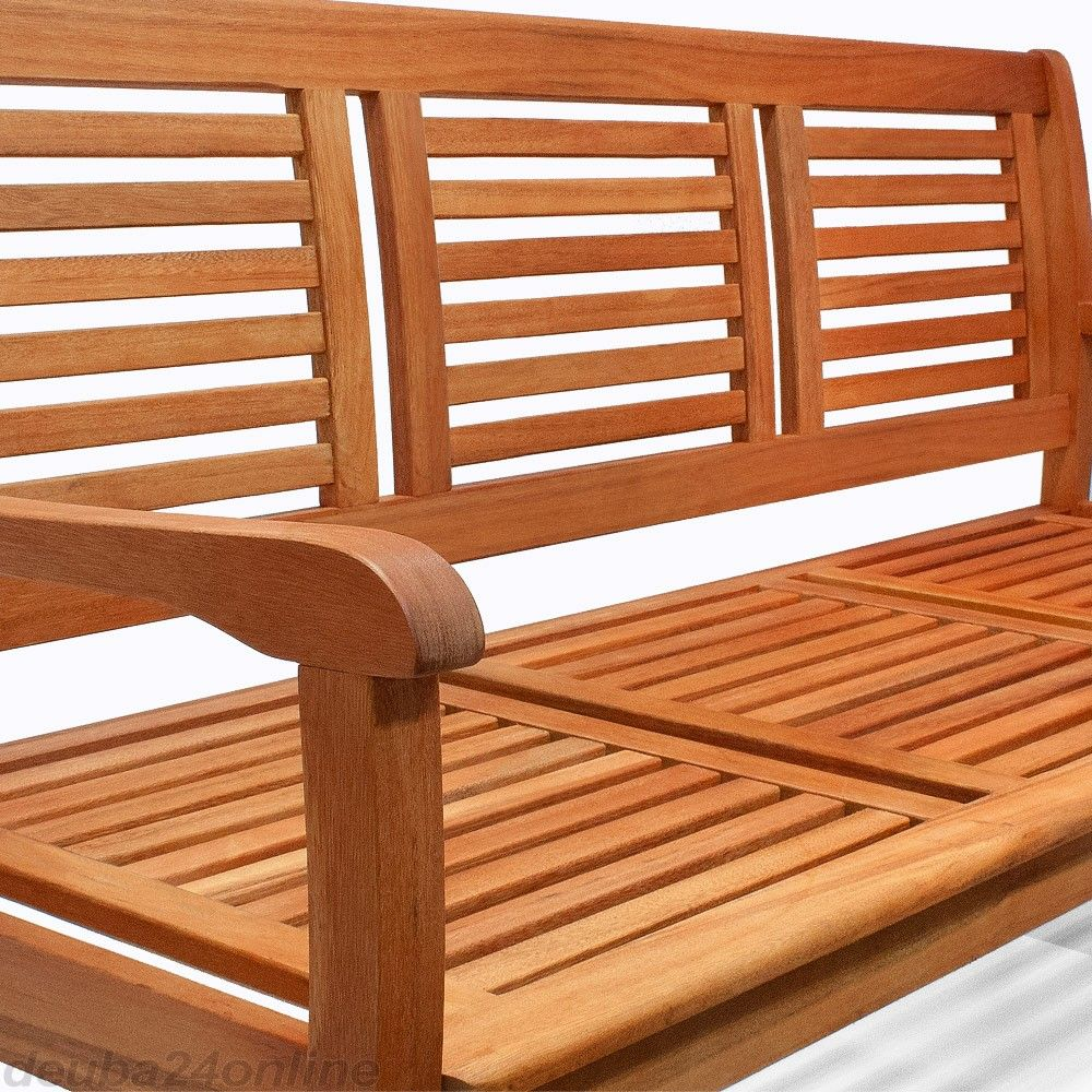 Gartenbank 3 Sitzer Eukalyptusholz Fsc Zertifiziert