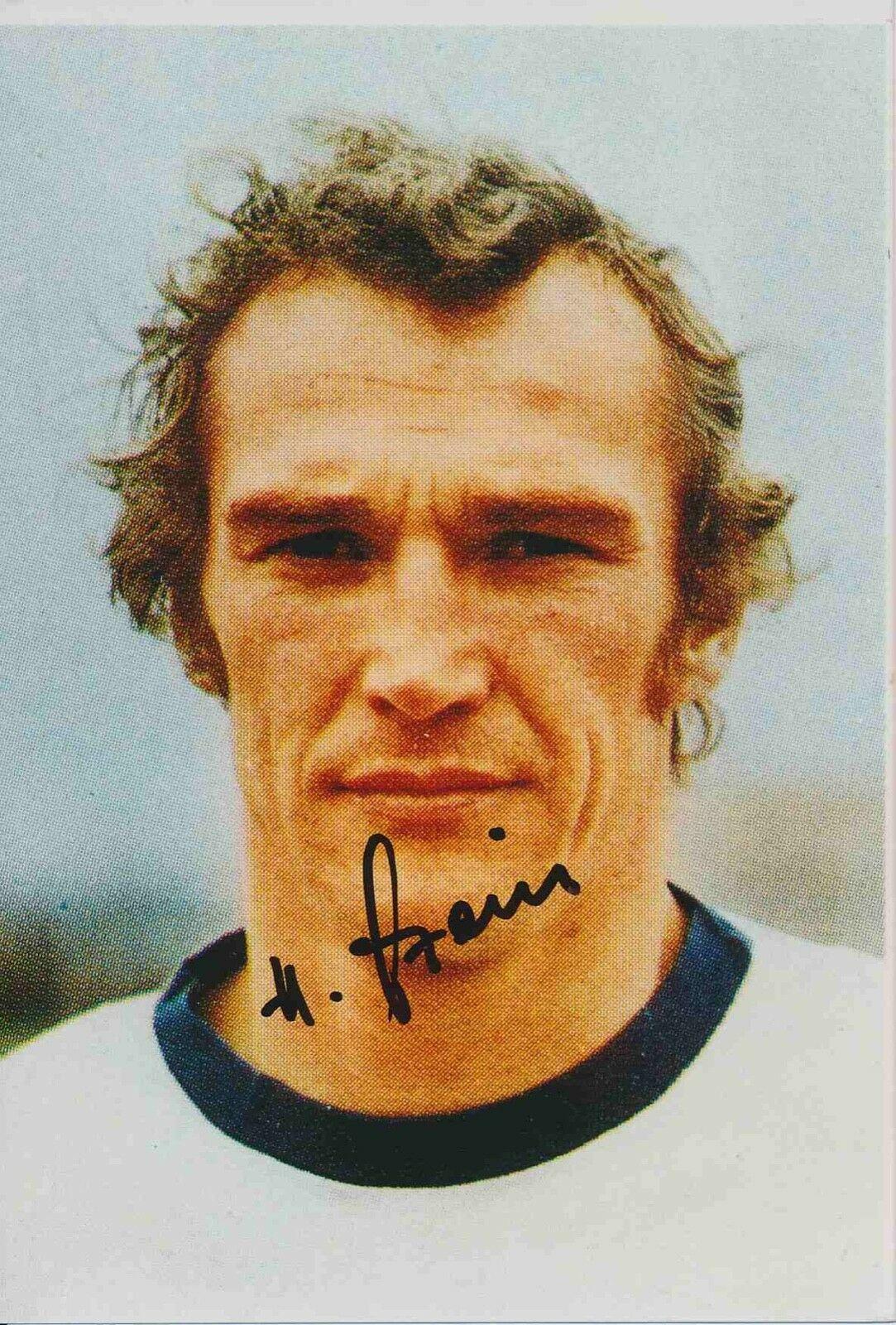 Wolfram Löwe Autogrammkarte DDR WM 1974 Original Signiert