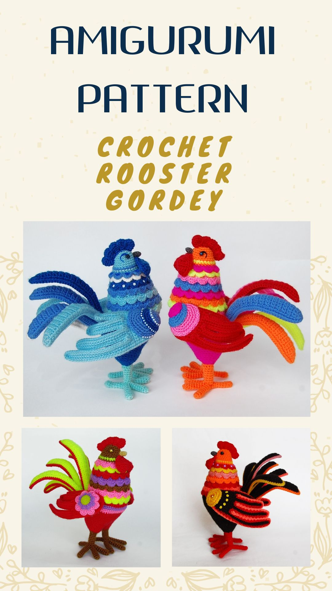 Amigurumi Easter Rooster Crochet Free Patterns • Page 2 of 2 • DIY ... | 1920x1080