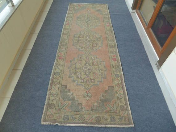Turkish Runner Oushak Rug Kitchen Hallway 10 Ft
