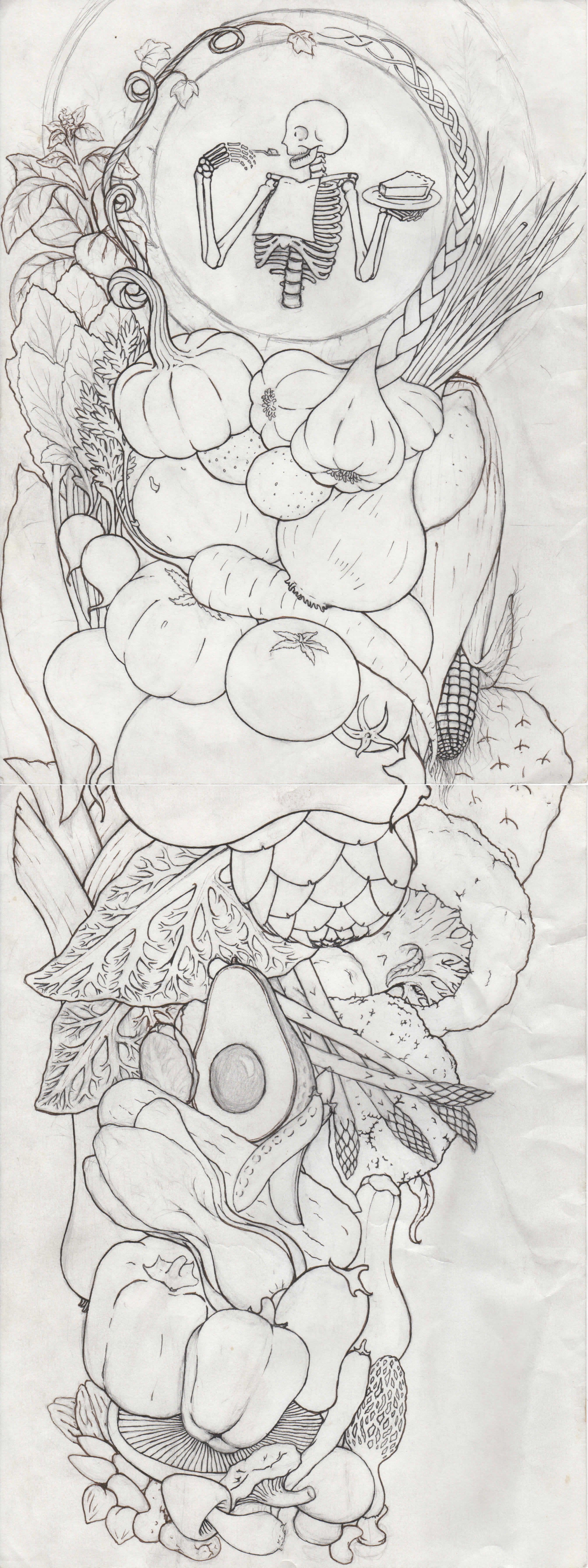 a tattoo design i did for a chef friend my art pinterest