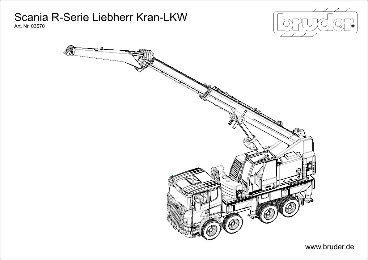 Bruder Scania Dzwig 03570