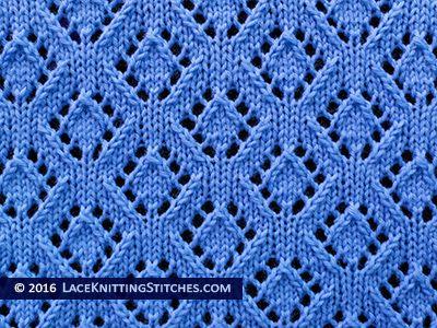 Lace Knitting 41 Eyelet Diamonds Lace Stitch Lace Knitting