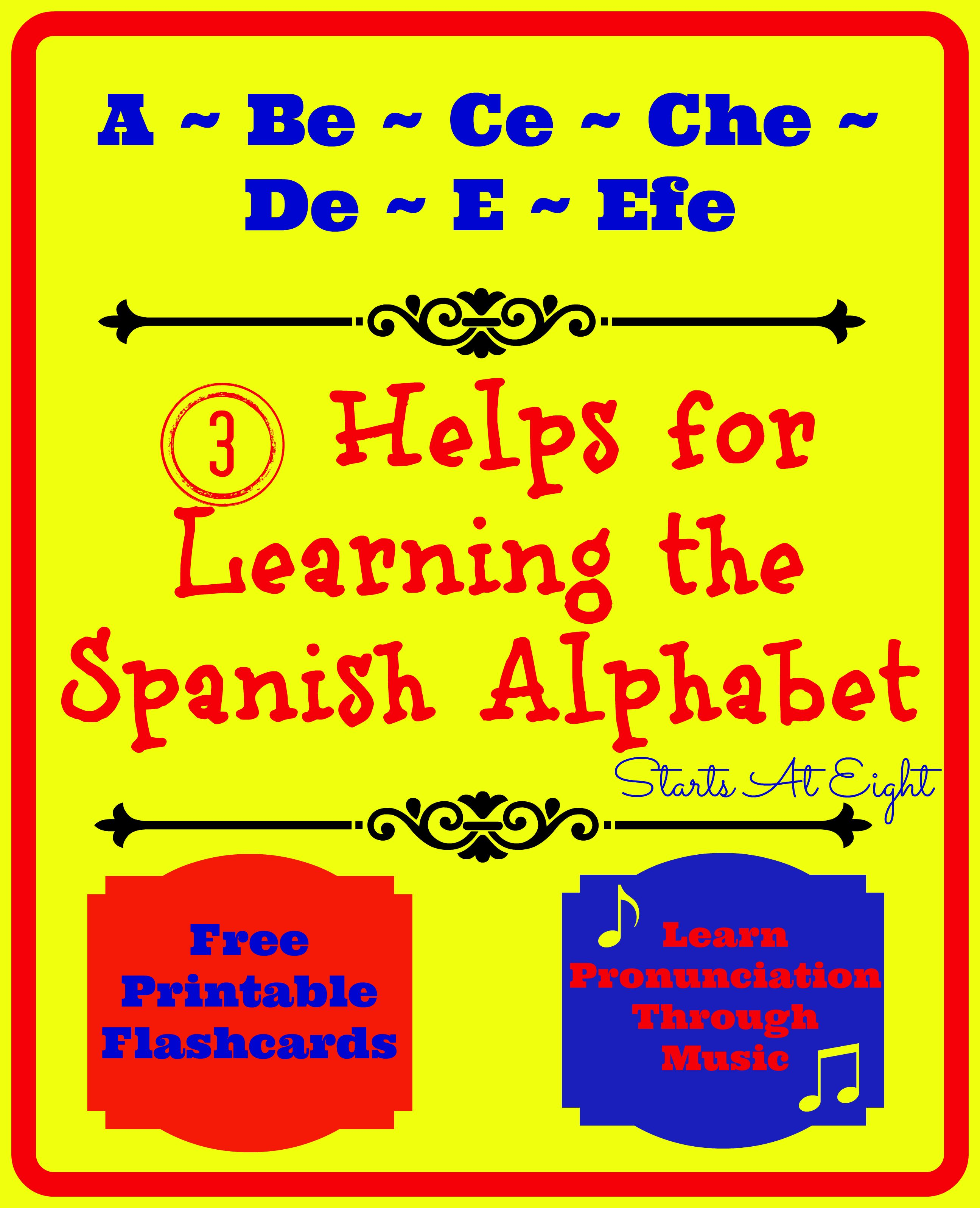 3 Helps For Learning The Spanish Alphabet
