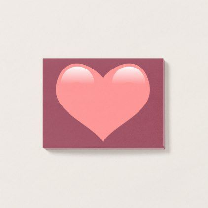 Heart Post-it® Notes 4 x 3 | Zazzle.com #sweetestdaygiftsforboyfriend Heart Post-it® Notes 4 x 3 - Saint Valentine's Day gift idea couple love girlfriend boyfriend design #sweetestdaygiftsforboyfriend