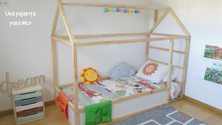 Diy Cama Casita Montessori Con Cama Kura Floor Bed Ikea Kids Floor Bed Ikea Kura Bed