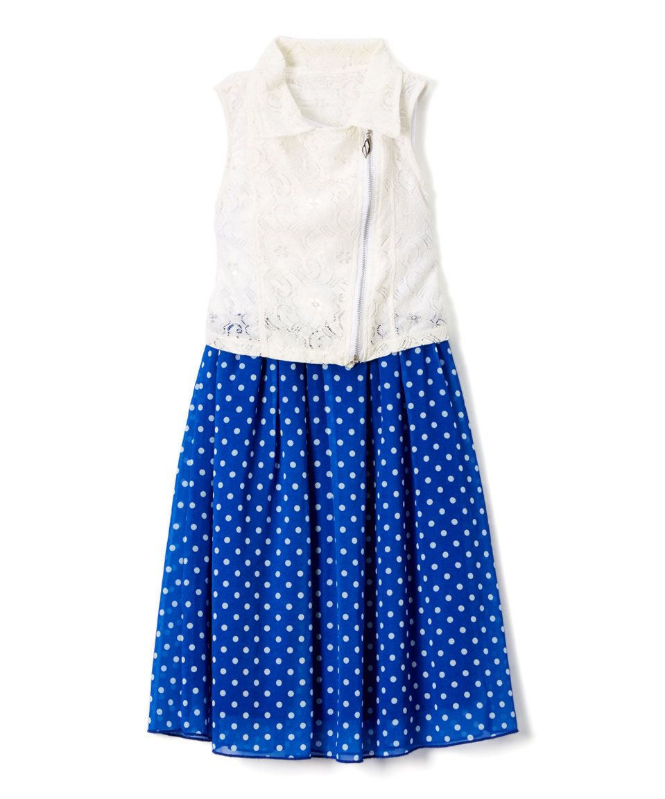 Take a look at this Royal Chiffon Tank Dress - Girls today!