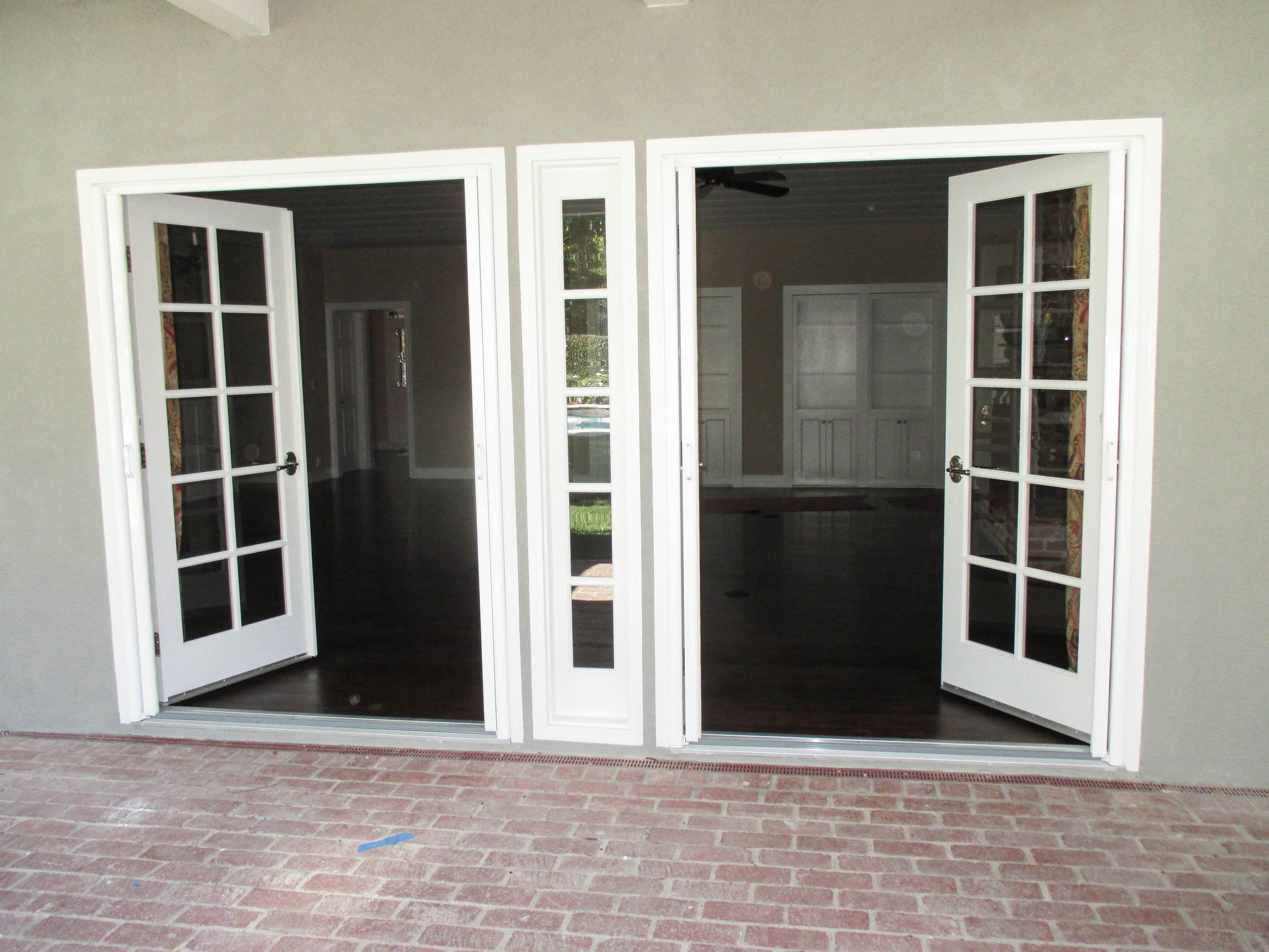 Check Out This Pair Of Double Door Inswing Bright White Stowaway Retractable Screen Doors That Our Team Retractable Screen Door Retractable Screen Screen Door