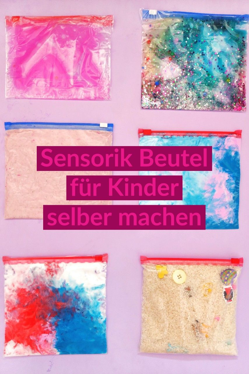 Photo of 6 different sensor bags – simple game idea for children