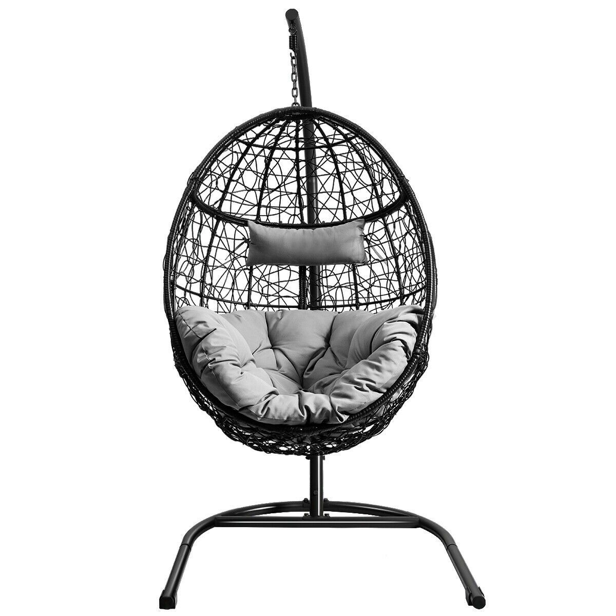Hanging Cushioned Hammock Chair with Stand in 2020