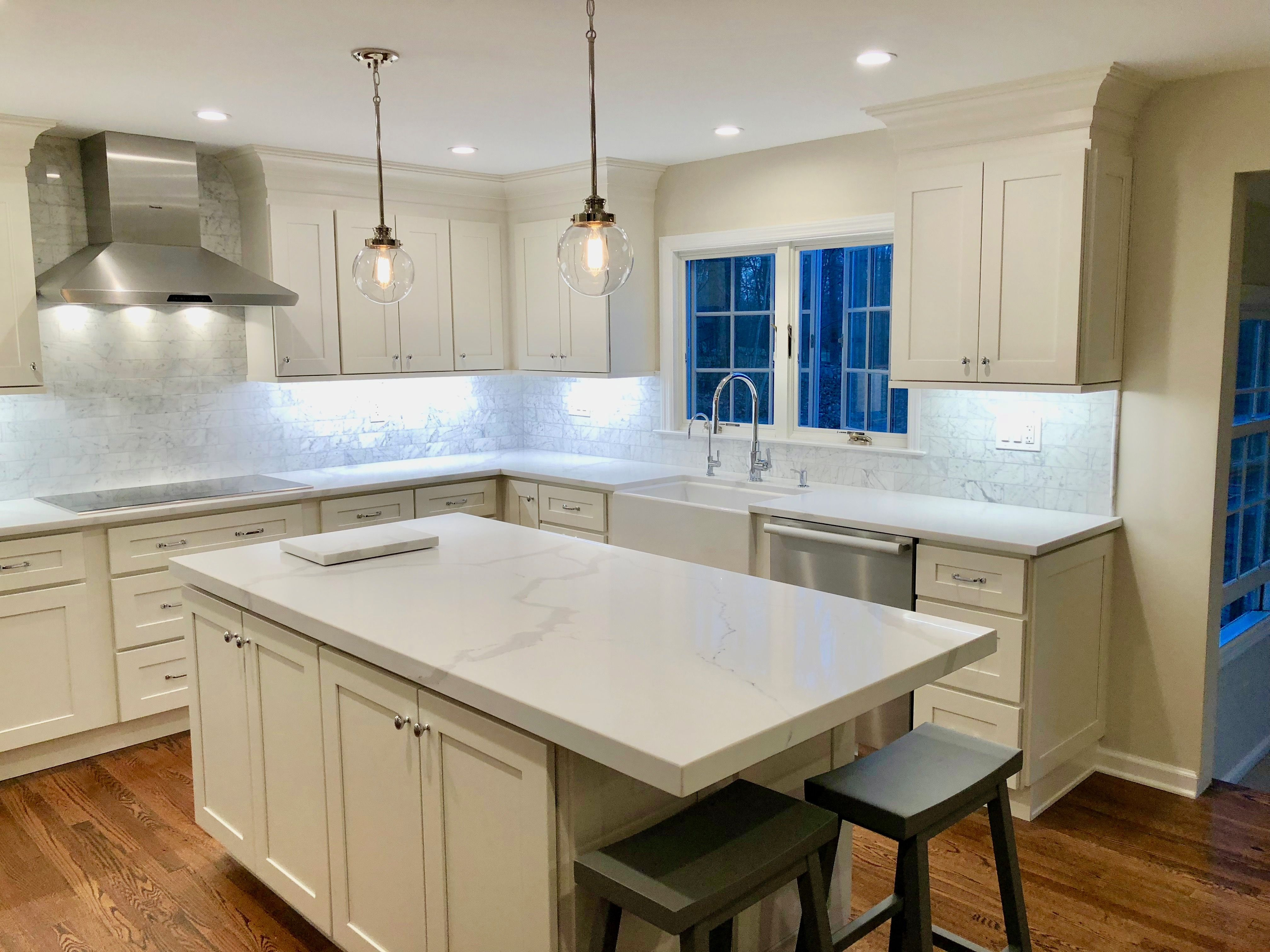 Kitchen Countertops And 2 Laminate Island With Quartz Divine By