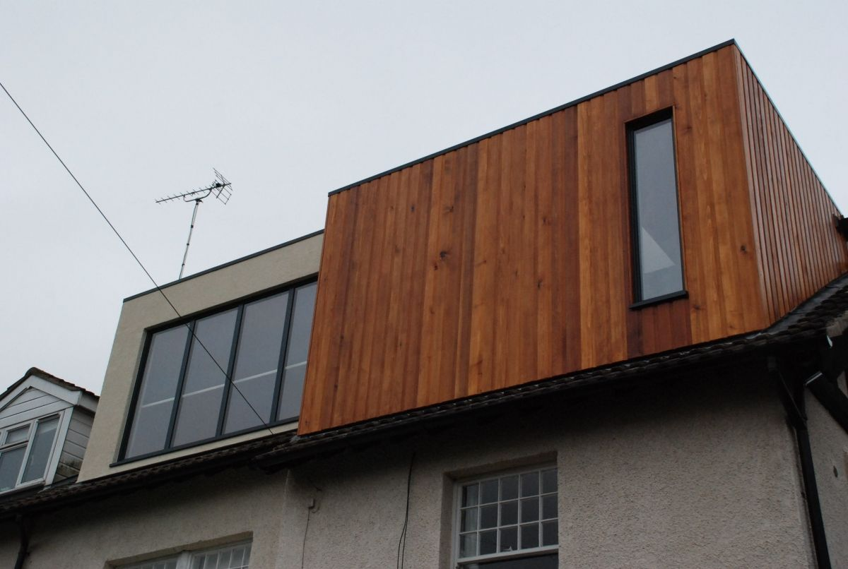 Vertical cedar cladding for dormers extension pinterest flats style and window - Houses roof windows ...