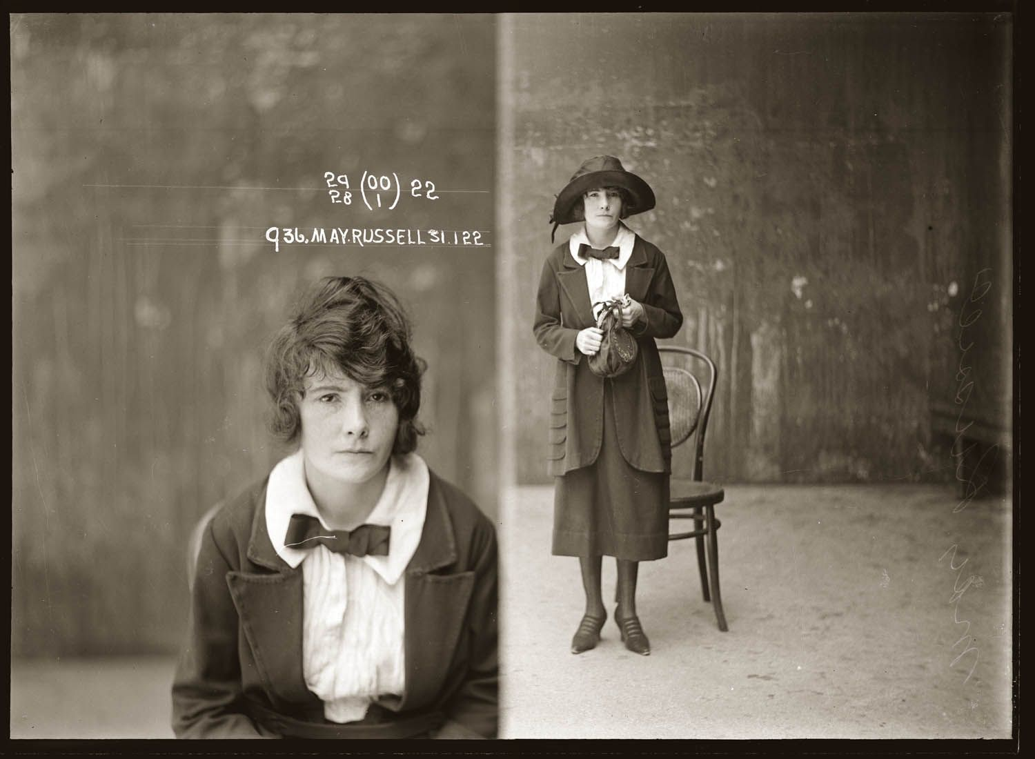 The vintage mugshots of shoplifters bank robbers and murderers from - Mug Shot May Russell 31 January 1922 Central Police Station Sydney