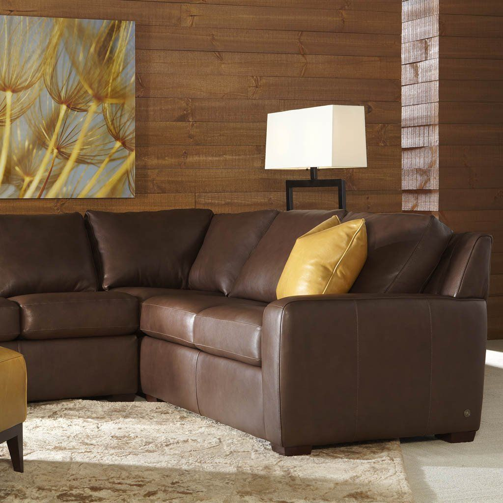 Gray 2 seater leather sofa. Lisben Sofa by American Leather - Best Price Guarantee ...