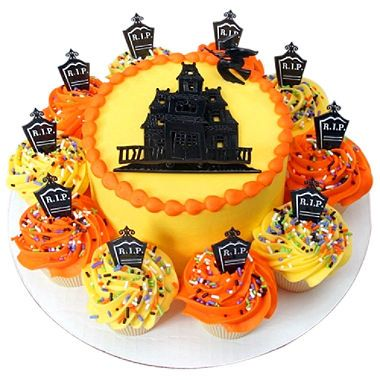 Fantastic Halloween Cupcakes From Sams Club With Images Halloween Cakes Personalised Birthday Cards Veneteletsinfo