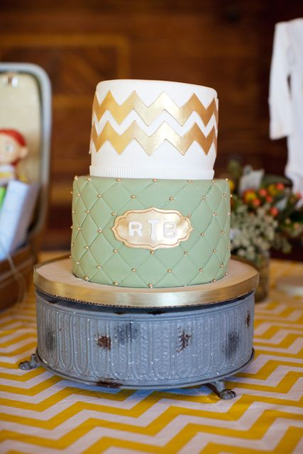 Cake at a French Garden Baby Shower.  See more party ideas at CatchMyParty.com.  #lbabyshowerideas