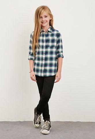 e36bb40c3c186 Plaid Flannel Shirt (Kids) | Forever 21 girls - 2000173729 | Lillian ...