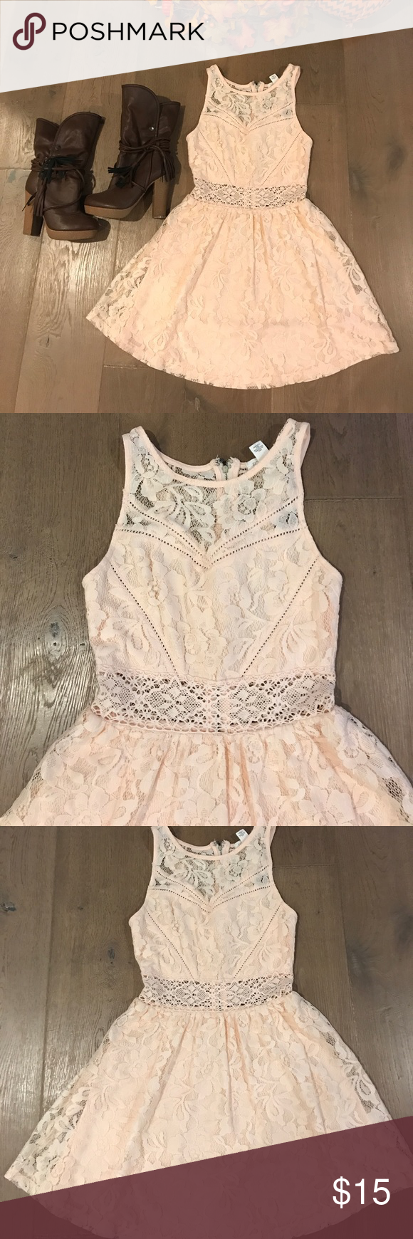 Pink see through lace dress  Host PickBlush Pink Lace Dress  Pink lace dresses Blush pink
