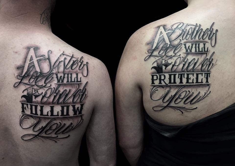 59 Super Cool Sibling Tattoo Ideas To Express Your Sibling Love Sibling Tattoos Brother Sister Tattoo Brother Tattoos