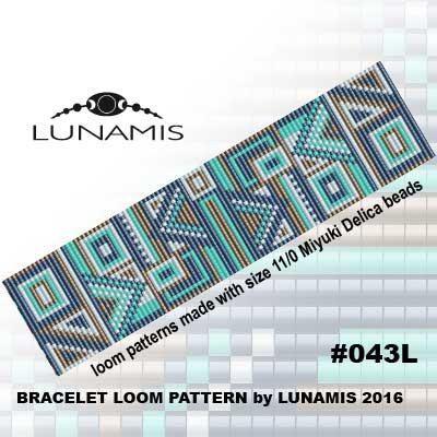 Loom bracelet pattern, loom pattern, square stitch pattern, pdf - print graph paper word