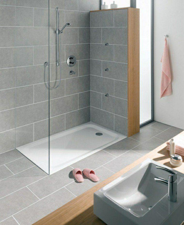 Carrelage douche pour une salle de bain moderne Bathroom designs - Pose Brique De Verre Salle De Bain