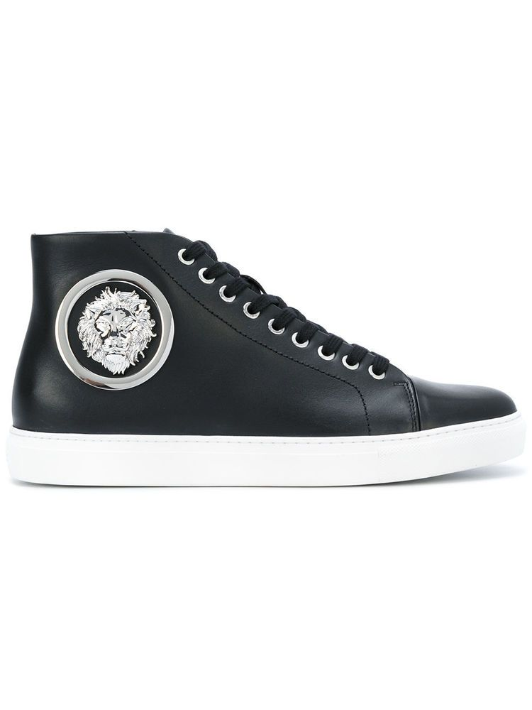 73cb9b587775 Versace Versus Sneakers Lion Head Hi Top Black Shoes Casual Trainers  Leather  Versace  HiTops